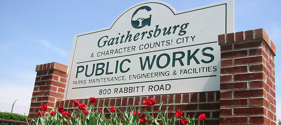 Public Works Facility Sign