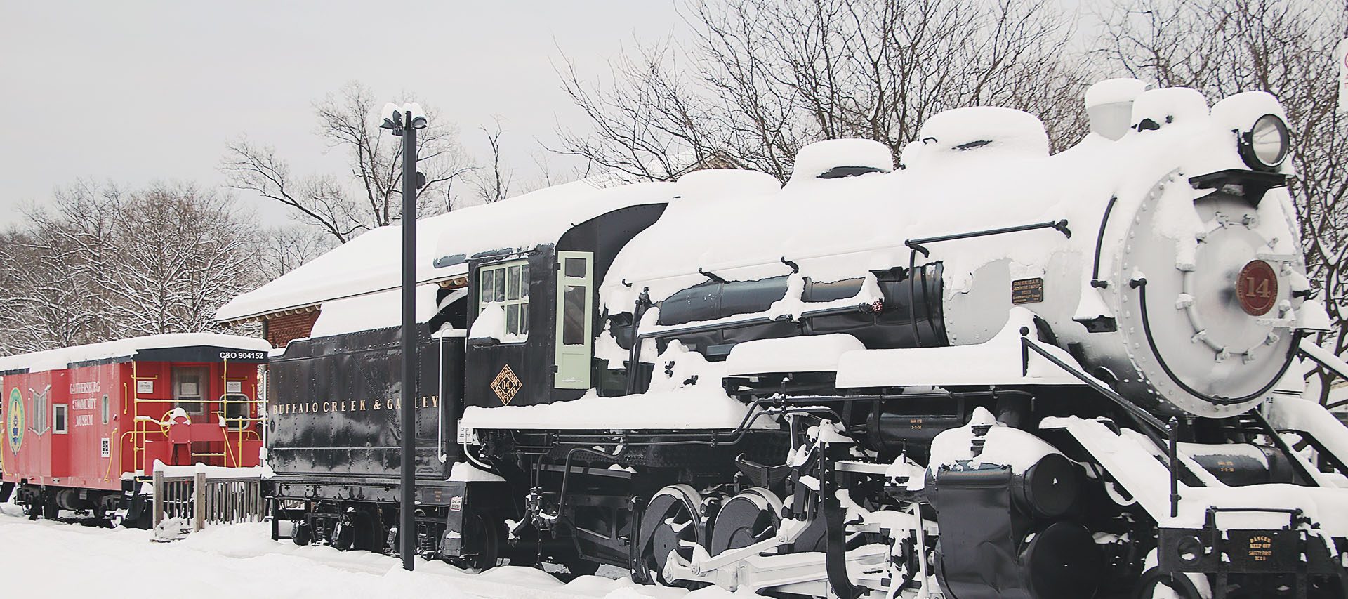 Locomotive in Snow