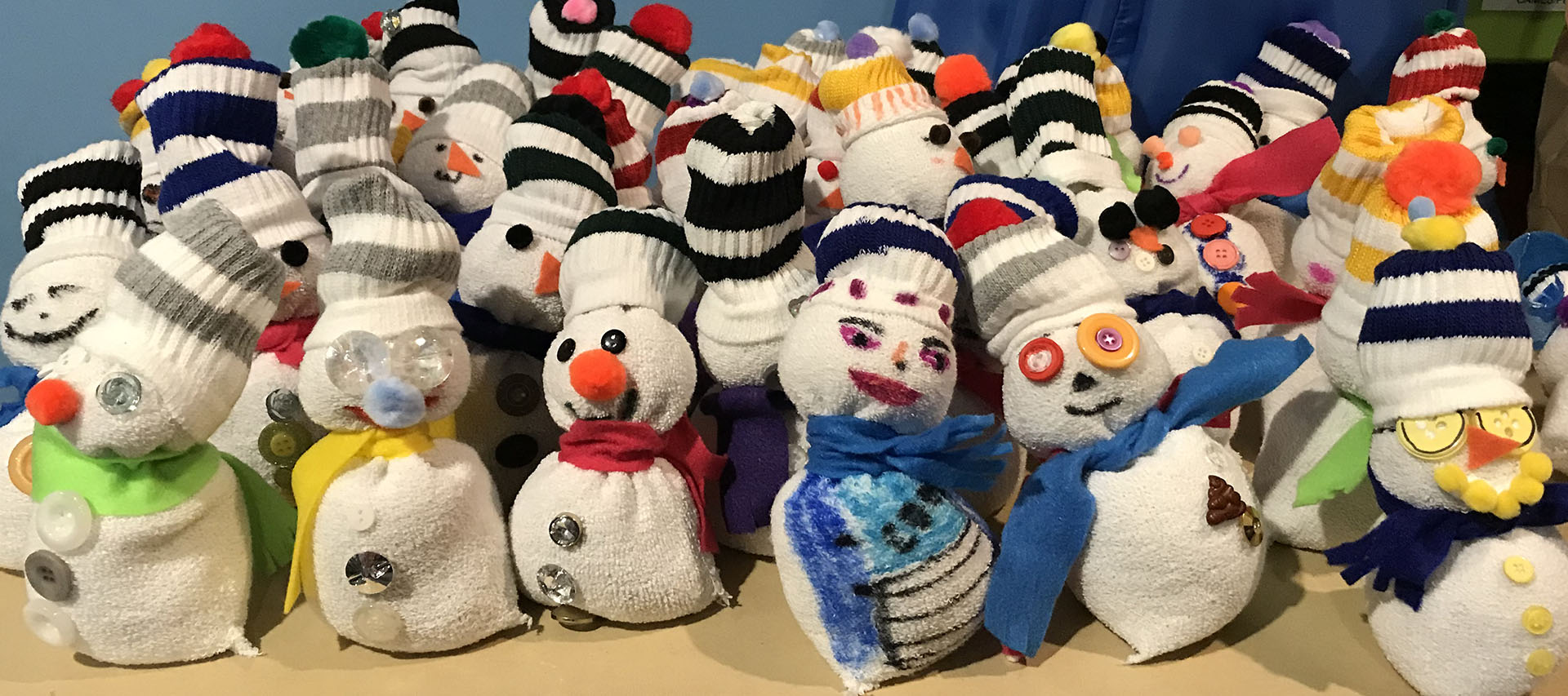 MLK Day of Service, Snowmen for the Children's Inn at NIH