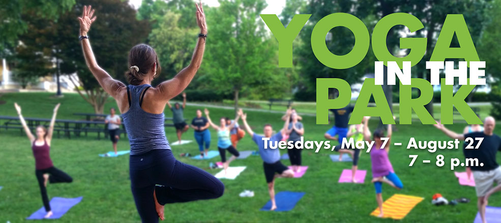 Yoga in the Park, Tuesdays, May 7 to August 28, 7 to 8 PM