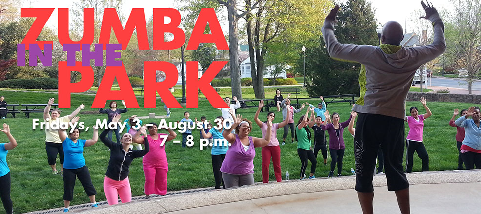 Zumba in the Park, Fridays, May 3 to August 30, 7 to 8 PM
