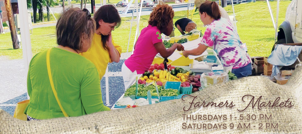 Farmers Markets, Thursdays 1 - 5:30 PM, Saturdays 9 AM - 2 PM