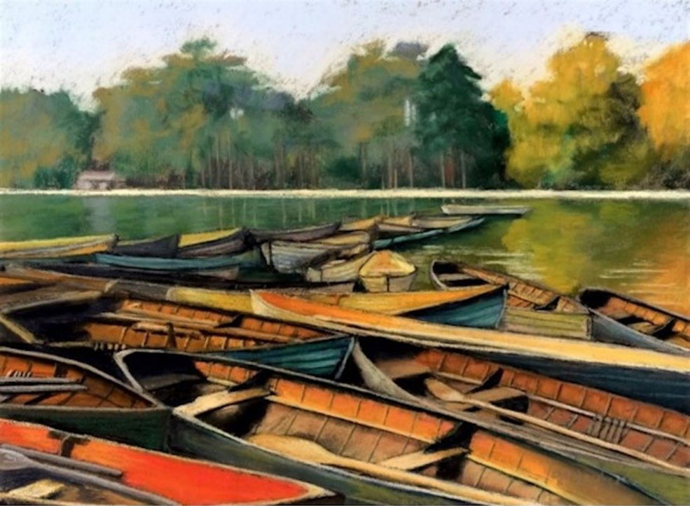 Boats in the Bois de Bologne