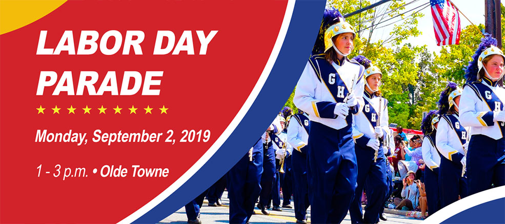 Labor Day Parade, Monday September 2, 2019, 1 until 3 PM, Olde Towne Gaithersburg