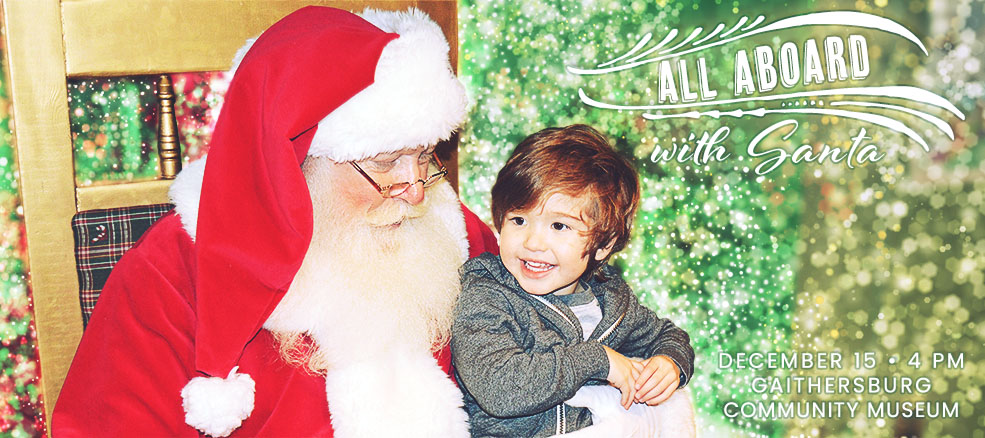 All Aboard with Santa, December 14 at the Community Museum