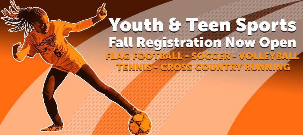 Fall Youth & Teen Sports Registration Now Open, flag football, soccer, volleyball, tennis, cross country running