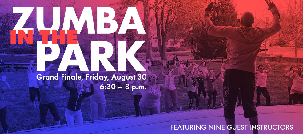 Zumba in the Park Finale, August 30, featuring 9 guest instructors