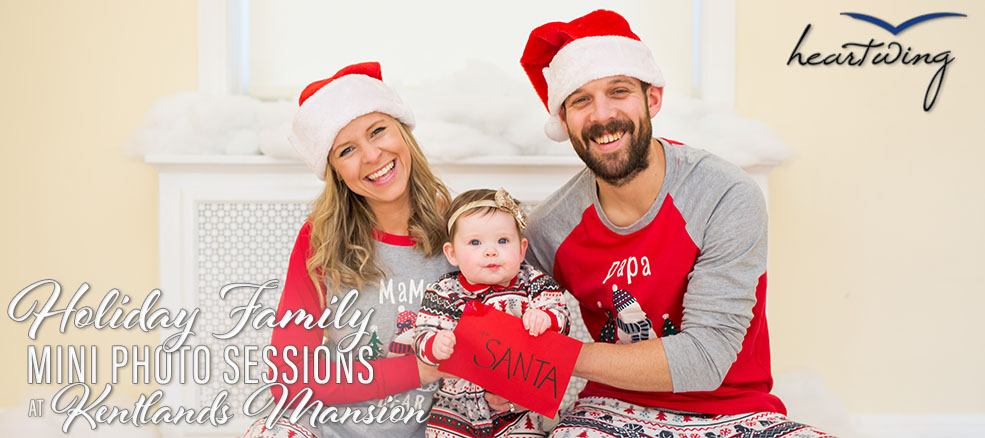 Holiday Family Mini Photo Session at Kentlands Mansion