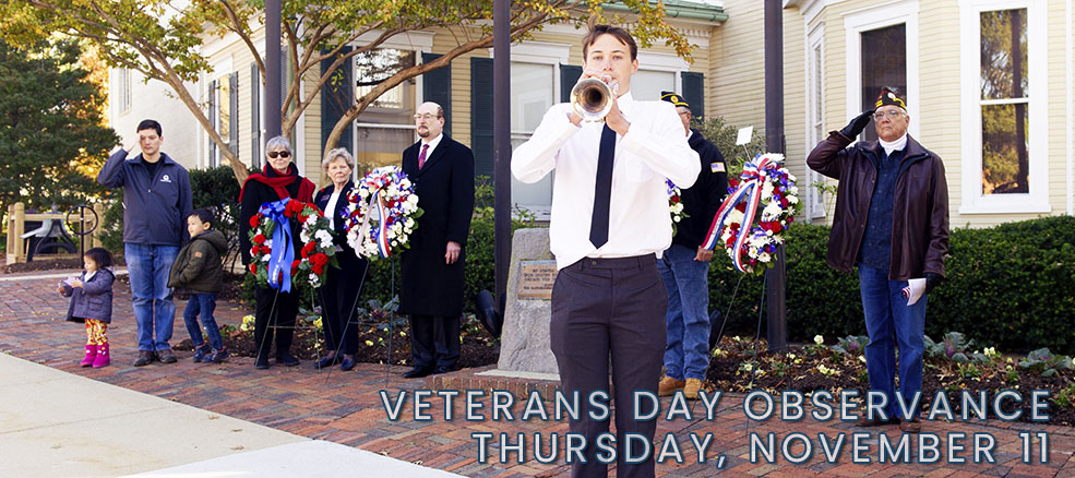 Veterans Day, Monday, November 11