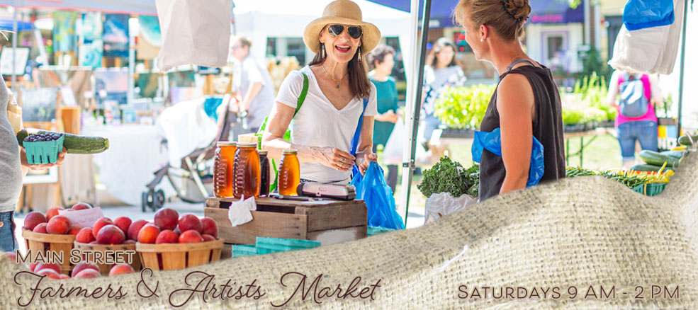 Main Street Farmers & Artists Market, Saturdays, 9 AM - 2 PM