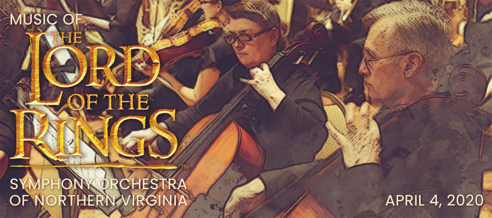 Music of The Lord of the Rings featuring Symphony Orchestra of Northern Virginia on April 4, 2020