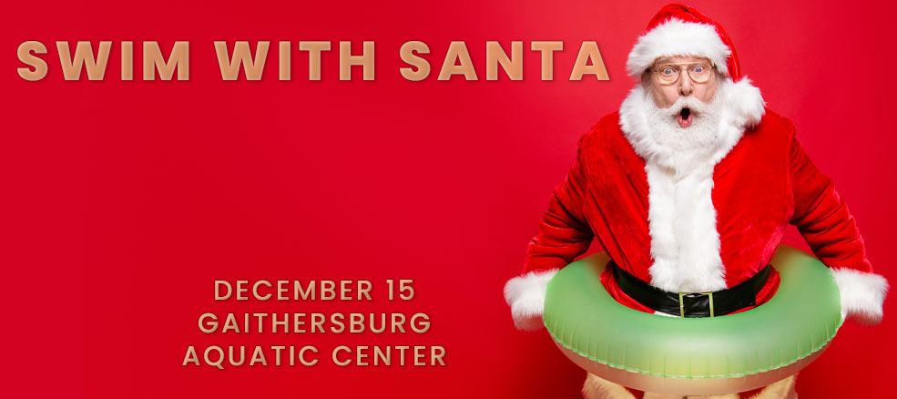 Swim with Santa at the Aquatic Center, December 15, 2019