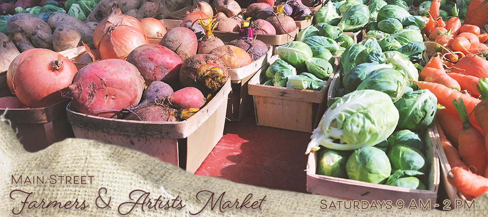 Main Street Farmers Market, Saturdays year round, 9 AM - 2 PM